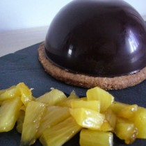 Dôme chocolat & ananas
