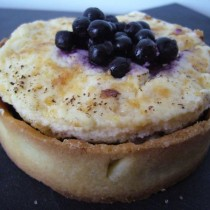Tartelettes myrtille & fromage blanc