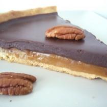 Tarte noix, caramel & chocolat
