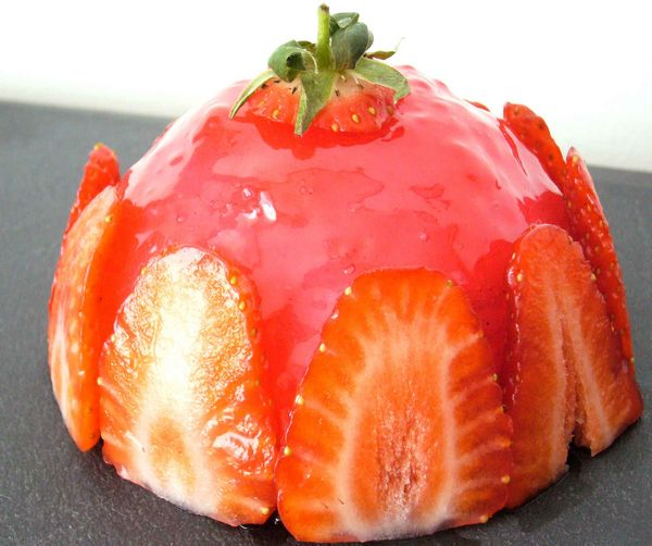 Dôme façon fraisier