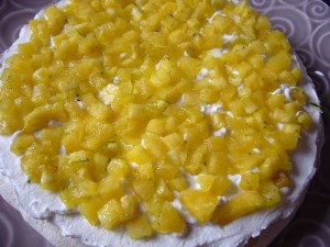Gateau a l'ananas chantilly