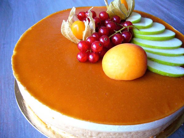 Entremet abricot & nougat