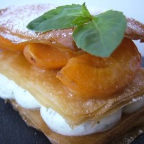Mille feuille abricot & basilic