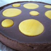 Tarte mangue & chocolat