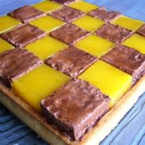 Tarte mosaïque chocolat passion